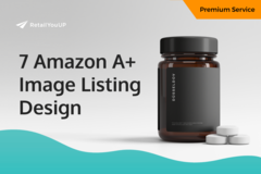 Package: 7 Premium Amazon A+ Image Listing Design