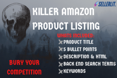 Package: KILLER AMAZON LISTING + UPLOAD VIDEO INSTRUCTIONS