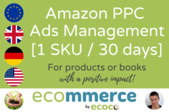 Package: Amazon PPC Ads Setup + Management (1 SKU, 30 days)