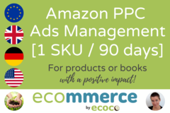 Package: Amazon PPC Ads Setup + Management (1 SKU, 90 days)