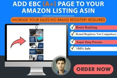 Package: without brand registry I will add EBC to your Amazon Listing