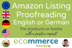 Package: Proofreading Amazon Listing in English or German [Classic]