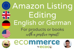 Package: Editing Amazon Listing in English or German by NativeSpeaker