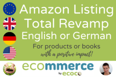 Package: Total Revamp of Amazon Listing in English or German