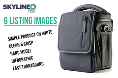 Package: ⭐⭐⭐⭐⭐ 6 Listing Images On White w/ Hand Model & Infographic