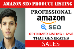 Package: SALE! SEO Amazon Listing with Competitor Ranking Keywords