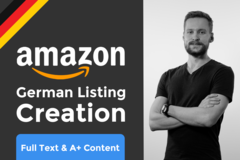 Package: German Amazon Product Listing Creation - Full + A+ Content