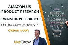 Package: Amazon Private Label Product Research - 3 Products US Market