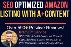 Package: SEO Optimized Amazon Listing with A+ Copy and PPC Keywords