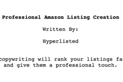 Package: Professional Listing Copywriting