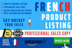 Package: I will write a French Amazon Product Description that sells