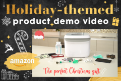 Package: Holiday-themed Product Demo Video