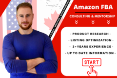 Package: Amazon FBA Consultant & Business Mentor or Coach (1/2 Hour)