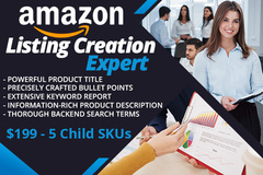 Package: New Product Listing Creation & Optimization (5 Child SKU's)