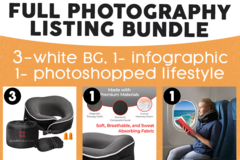 Package: 5 images photo bundle (white bg + infographic + lifestyle)