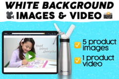 Package: *SALE* White background photo & video bundle
