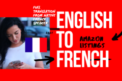 Package: English to French Listing translation | + Keywords and more