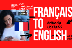 Package: French to English Listing translation | + Keywords & More