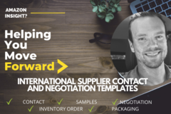 Package: INTERNATIONAL SUPPLIER CONTACT AND NEGOTIATION TEMPLATES
