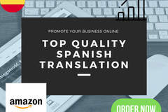 Package: Translate to Spanish amazon listing product descriptions wit