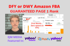 Package: AMAZON FULL SETUP GUARANTEED PAGE 1 RANK MENTOR/MANAGEMENT