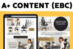 Package: A+ content (EBC): images + graphic design + copy