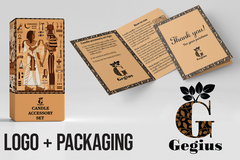 Package: Branding Design Package - Logo & Packaging & Thank You Card