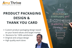 Package: Eye-Catching Product Packaging Design & Thank you Card