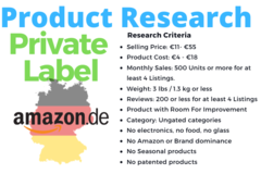 Package: German Amazon FBA Private Label Product Research
