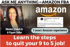 Package: Amazon FBA Mentoring Call 60 mins 50% off Limited time