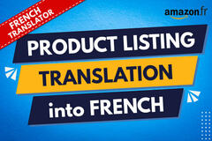 Package: French to English Listing translation or vice versa