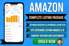 Package: Sale! Complete Amazon Product Listing - SEO Text & Images x6