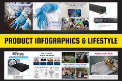 Package: 8 infographic lifestyle images