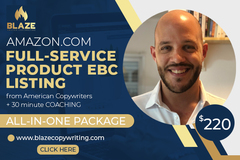 Package: Amazon Full Service Product Listing EBC Description Included