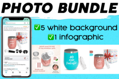 Package: 6 images photo bundle (5 white background + 1 infographic)