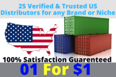 Package: US based Verified Suppliers, distributors and wholesalers