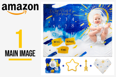 Package:  1 Main Hero Listing Image for Amazon
