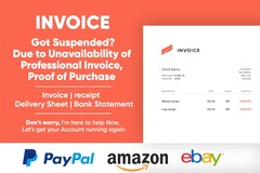 Package: I will create an invoice to appeal Amazon