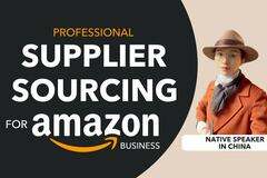 Package: I will do product sourcing supplier sourcing for amazon
