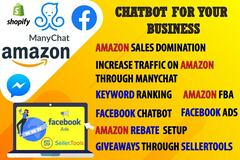 Package: I Will Build Messenger, Amazon Chatbot In Manychat
