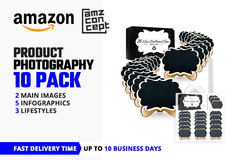 Package: 10 Images Product Photography (Main, Infographic, Lifestyle)