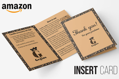 Package: THANK YOU CARD PACKAGING INSERT- Increase Amazon Reviews