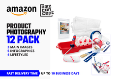 Package: 12 Images Product Photography (Main, Infographic, Lifestyle)